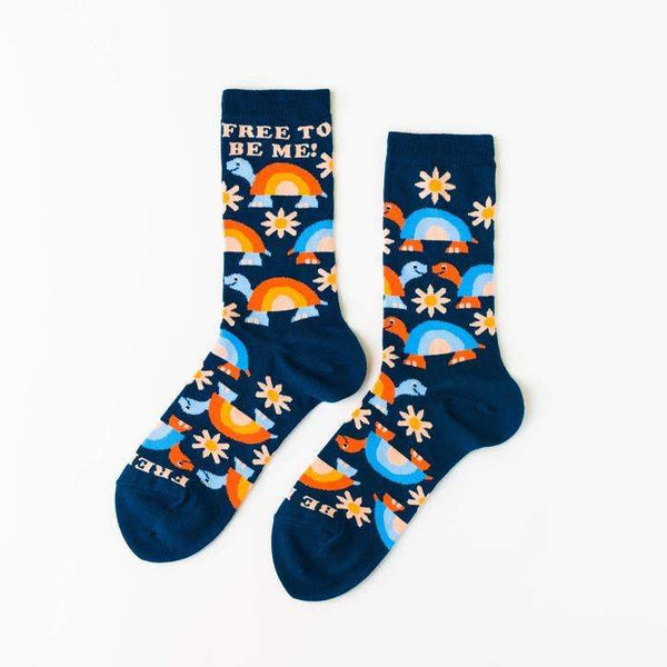 Free To Be Me Women's Crew Socks by Yellow Owl Workshop - COMMON DEAR
