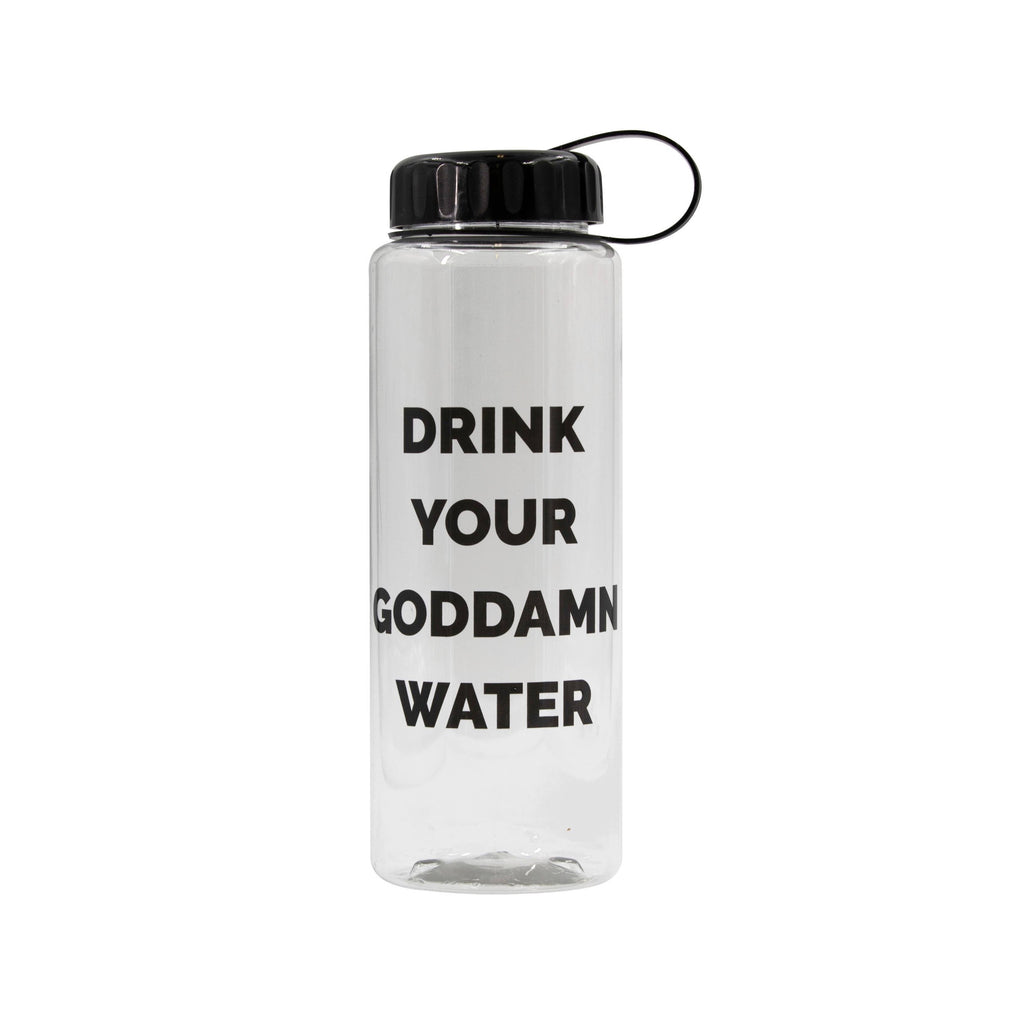 Drink Your Goddamn Water Large 32 Oz. Water Bottle by GetBullish - COMMON DEAR
