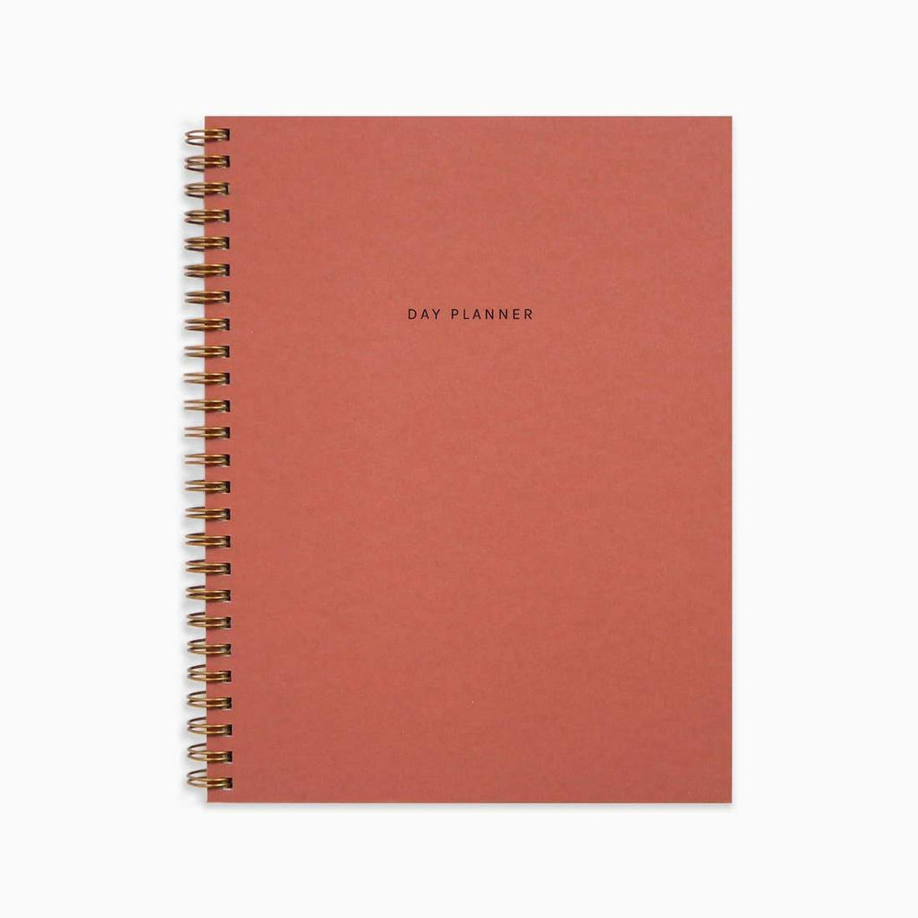 Minimal Day Planner - Rust by Evermore Paper Co. - COMMON DEAR