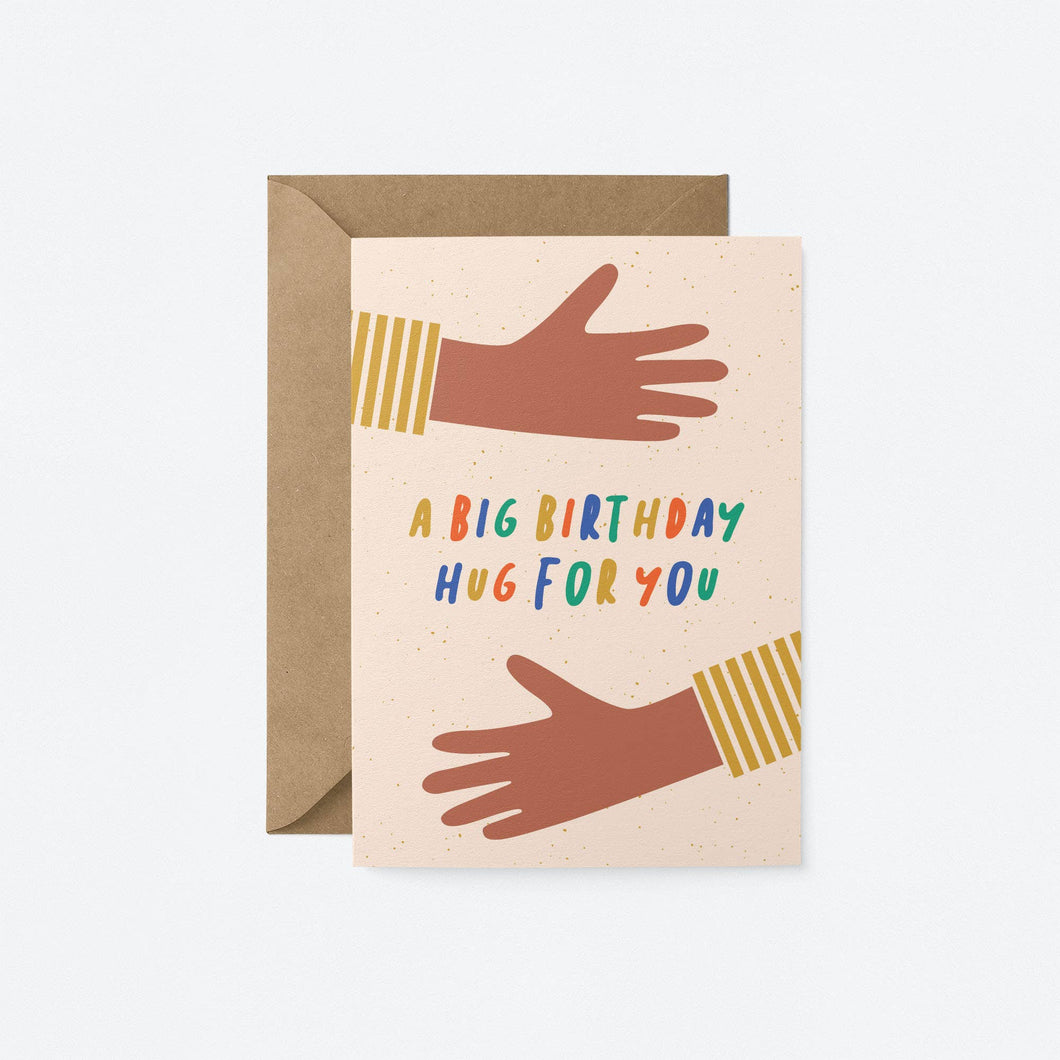 Big Birthday Hug Greeting Card