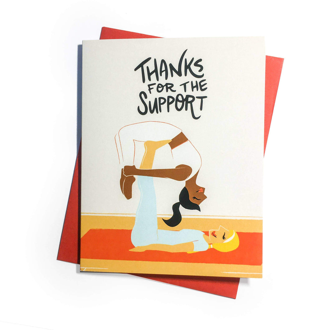 Support - Yoga Series Greeting Card by Rhino Parade - COMMON DEAR