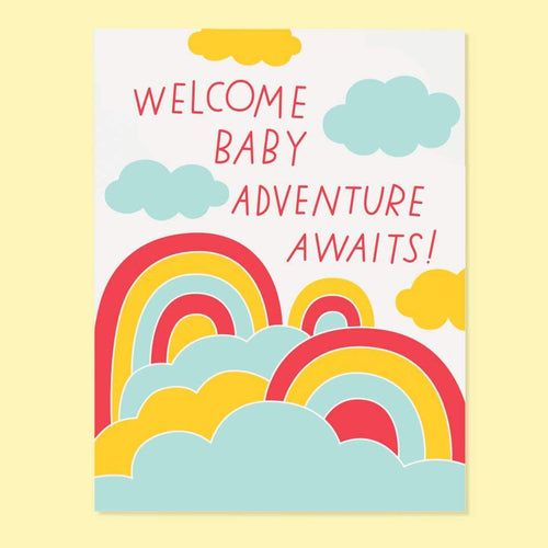 Baby Adventure Greeting Card - Common Dear