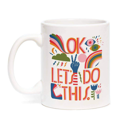 Lisa Congdon OK Let's Do This Coffee Mug - Common Dear