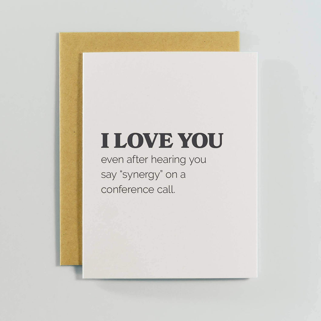 I Love You Greeting Card by Spacepig Press - COMMON DEAR