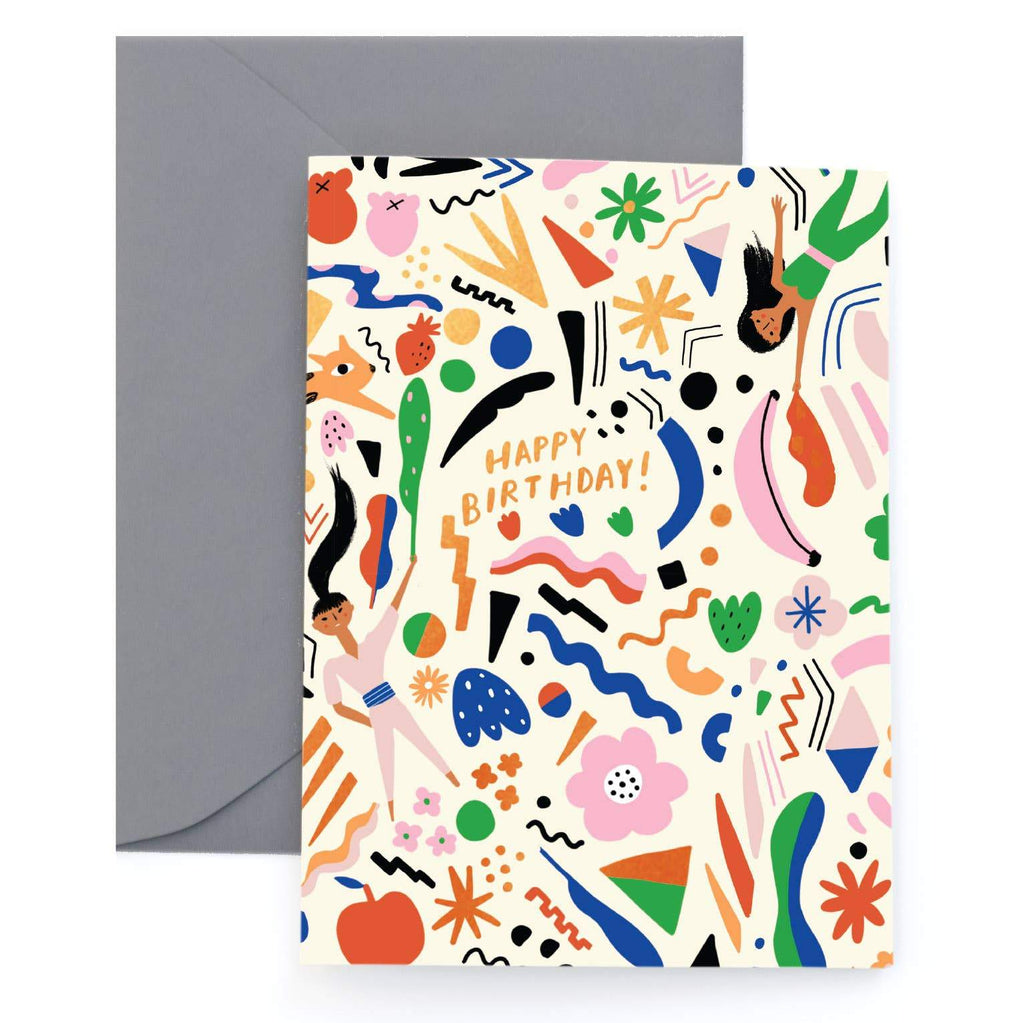 Omatsuri Girls Greeting Card by Carolyn Suzuki - COMMON DEAR