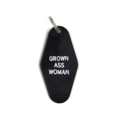 Grown Ass Woman Motel Style Keychain by GetBullish - COMMON DEAR
