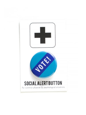 VOTE Pinback Button by WORD FOR WORD - COMMON DEAR
