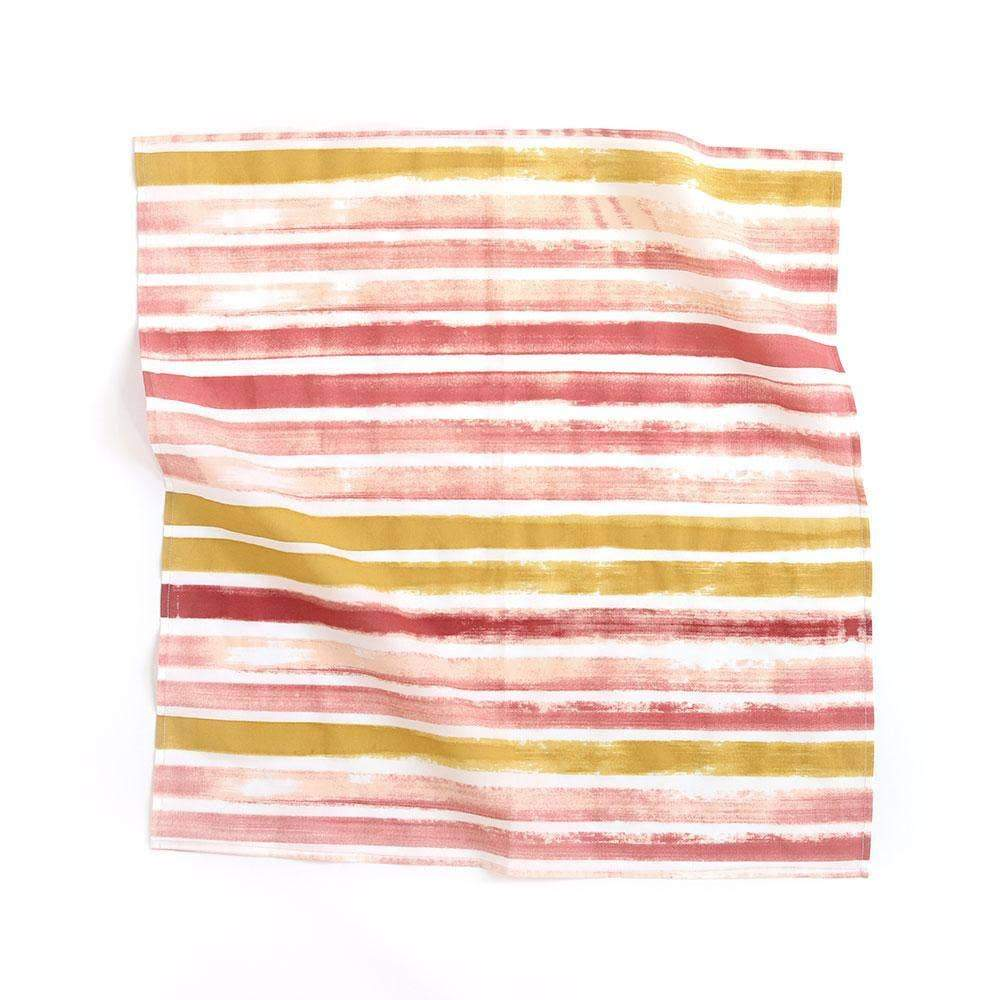 Sunset Stripe Premium Cotton Handmade Bandana - Common Dear