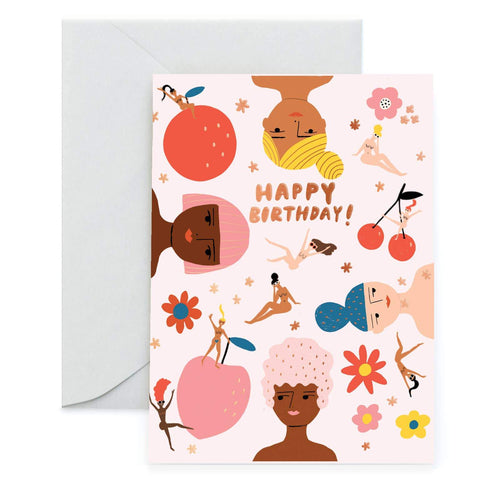 Fruity Nudes Foil Greeting Card by Carolyn Suzuki - COMMON DEAR