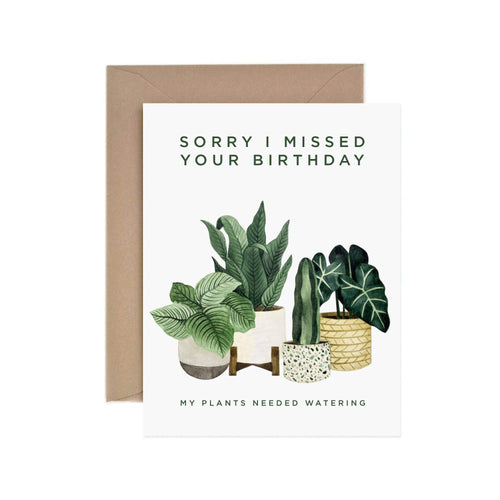 Missed Birthday Greeting Card by Paper Anchor Co. - COMMON DEAR