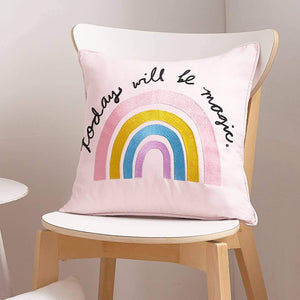 Peking Handicraft - Today Will Be Magic Embroidered Pillow by Peking Handicraft - COMMON DEAR