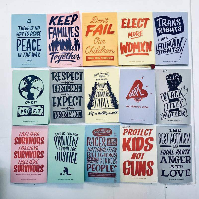 Protest Posters by Ladyfingers Letterpress - COMMON DEAR