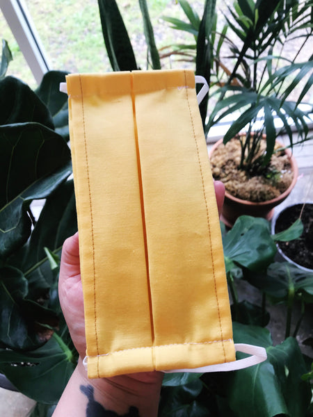 Cotton Reusable Face Mask, Yellow by MOMNI - COMMON DEAR