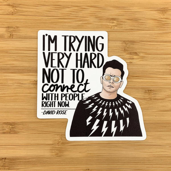 David Connect Schitt's Creek Sticker by Citizen Ruth - COMMON DEAR