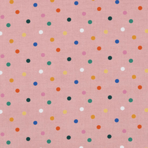 Made To Order - Pink Funfetti Dots Premium Cotton Adult Face Mask by Common Dear - COMMON DEAR