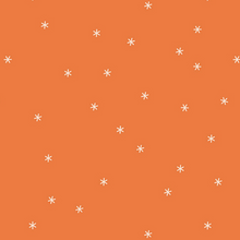 Load image into Gallery viewer, Made To Order - Stars in Orange Cotton Face Mask - Common Dear