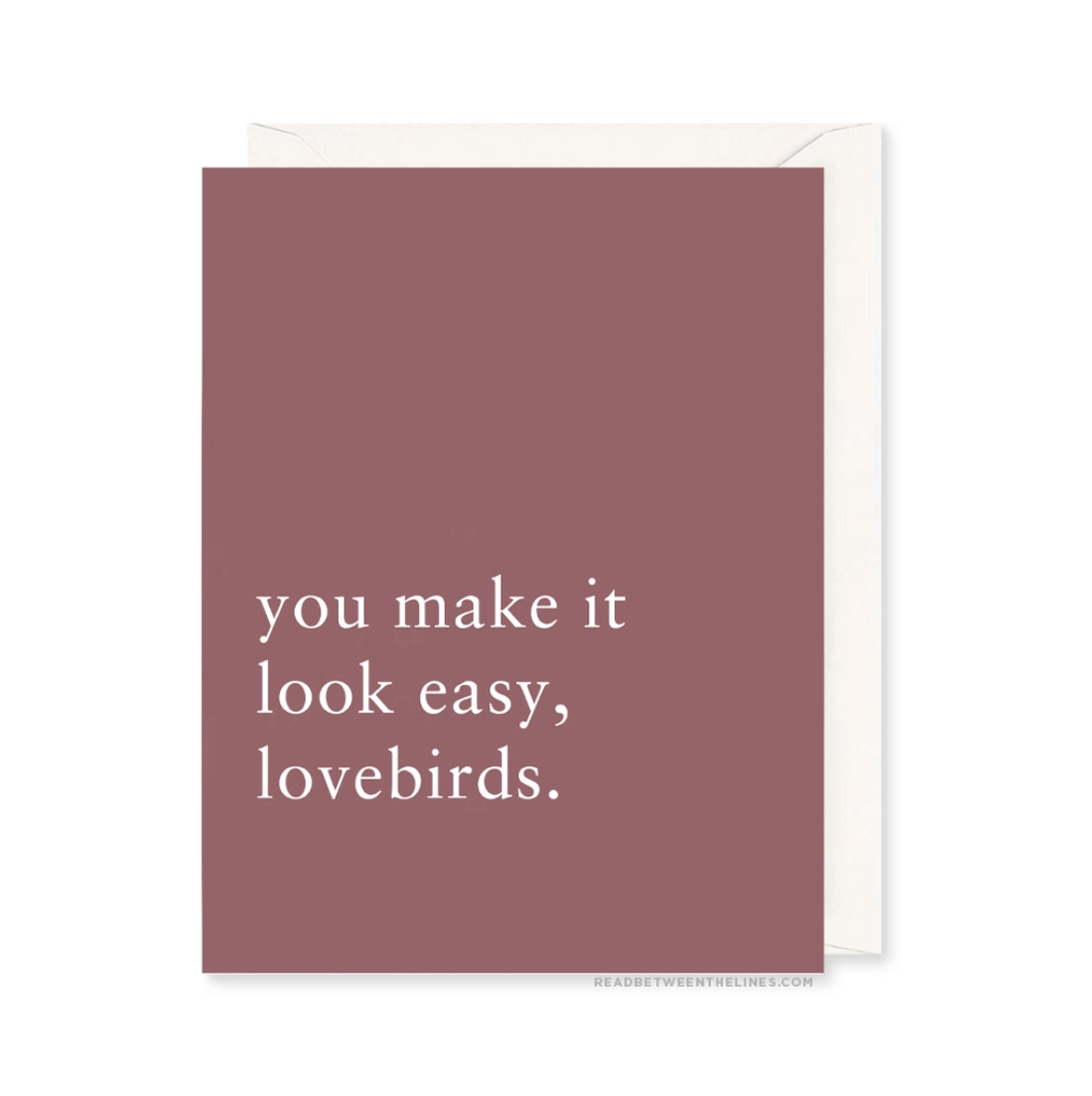 Lovebirds Greeting Card by Read Between the Lines - COMMON DEAR