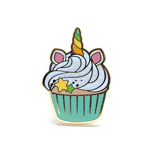 Unicorn Cupcake Enamel Pin-Enamel Pins-LuxCups Creative-COMMON DEAR