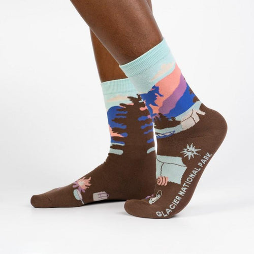 Glacier National Park Unisex Crew Socks by Sock It To Me - COMMON DEAR