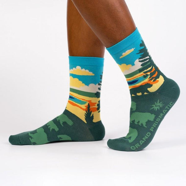 Grand Prismatic Unisex Crew Socks by Sock It To Me - COMMON DEAR