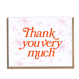 Thank You Very Much Greeting Card by Grl & co. - COMMON DEAR