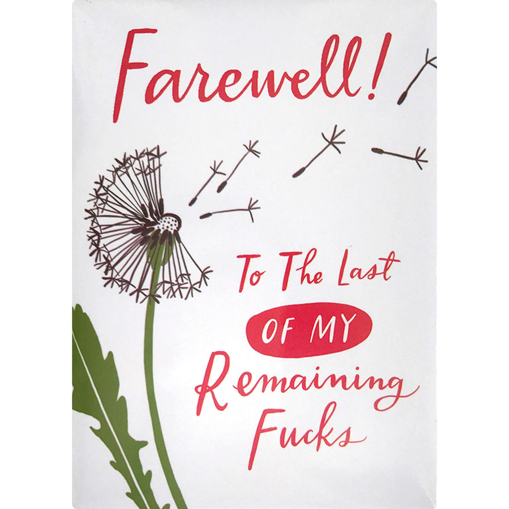 Remaining Fucks Magnet by Emily McDowell & Friends - COMMON DEAR