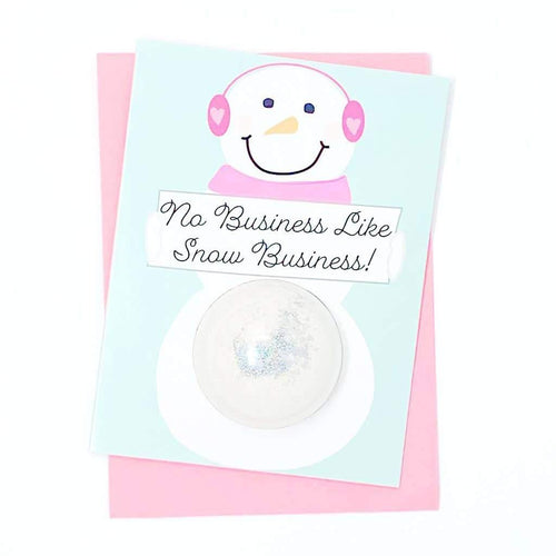 No Business Like Snow Business Bath Card by Feeling Smitten - COMMON DEAR