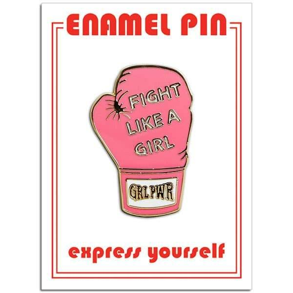 Fight Like a Girl Enamel Pin by The Found - COMMON DEAR