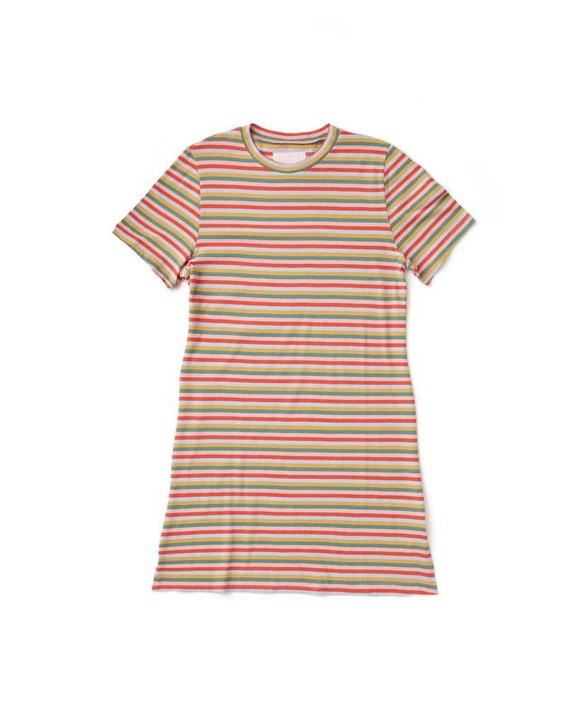 Mini Vintage Stripe T-Shirt Dress - Bando by Ban.do - COMMON DEAR