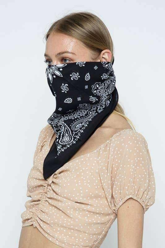Black Bandana by Leto Accessories - COMMON DEAR