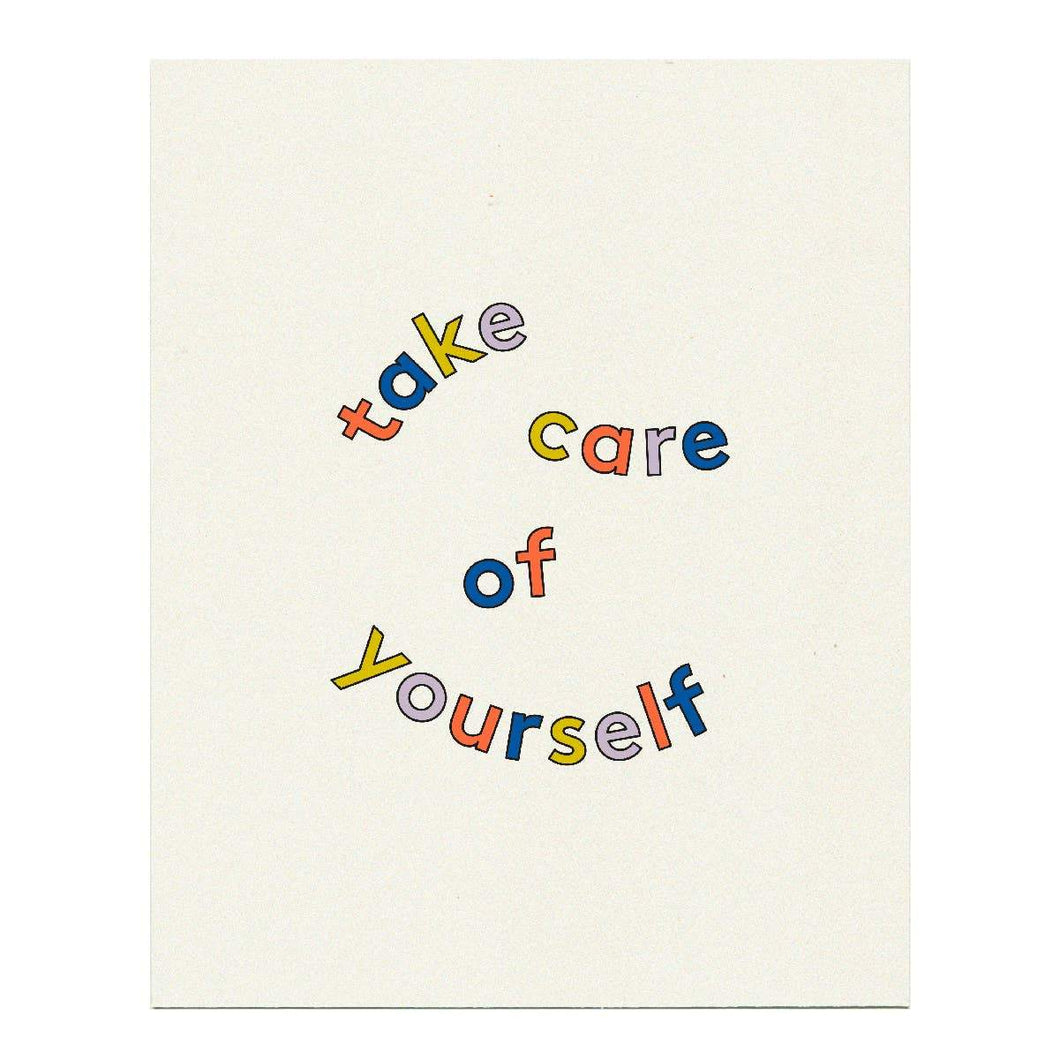 Take Care Art Print by Grl & co. - COMMON DEAR