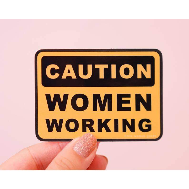 Women Working Vinyl Sticker by Little Woman Goods - COMMON DEAR