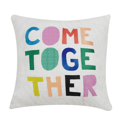 Come Together Embroidered Pillow by Peking Handicraft - COMMON DEAR