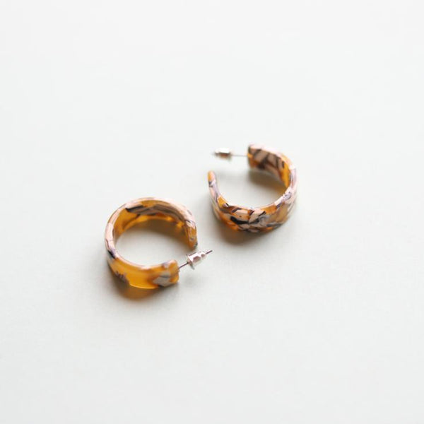 Daisy Chunky Hoop Earrings by NAT + NOOR - COMMON DEAR