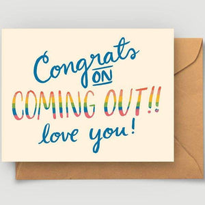 Coming Out LGBTQ Greeting Card by Abbie Paulhus - COMMON DEAR