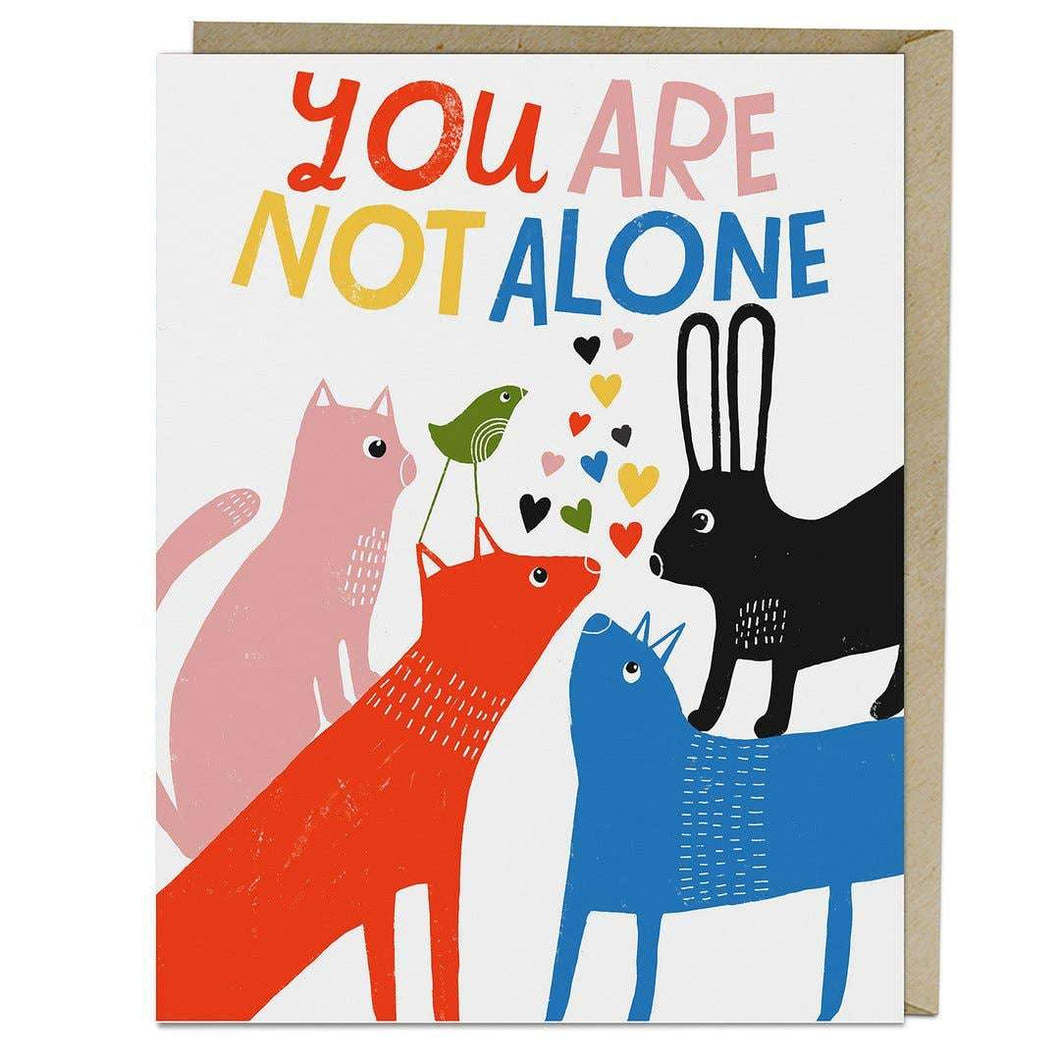 Lisa Congdon You Are Not Alone Greeting Card - Common Dear