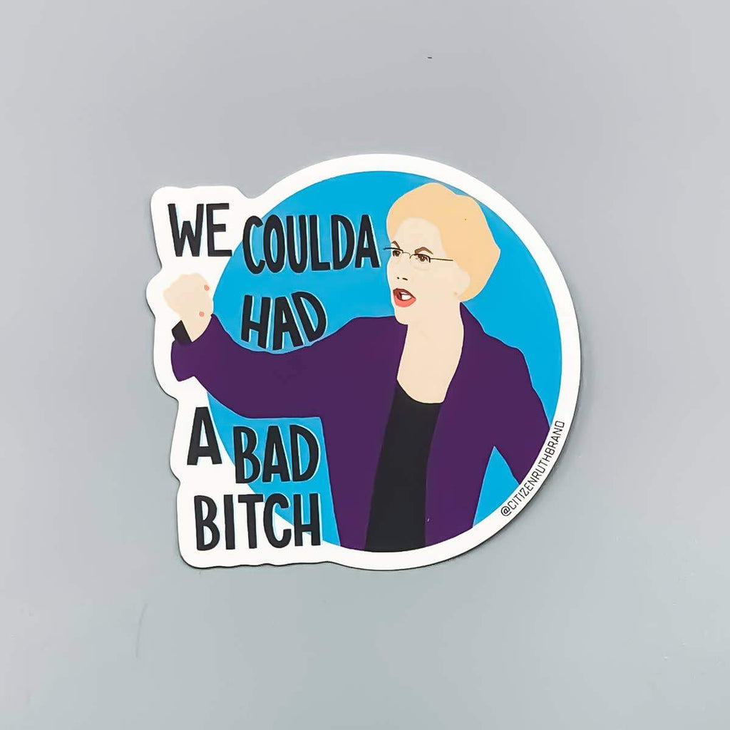 Elizabeth Warren Bad Bitch Sticker by Citizen Ruth - COMMON DEAR