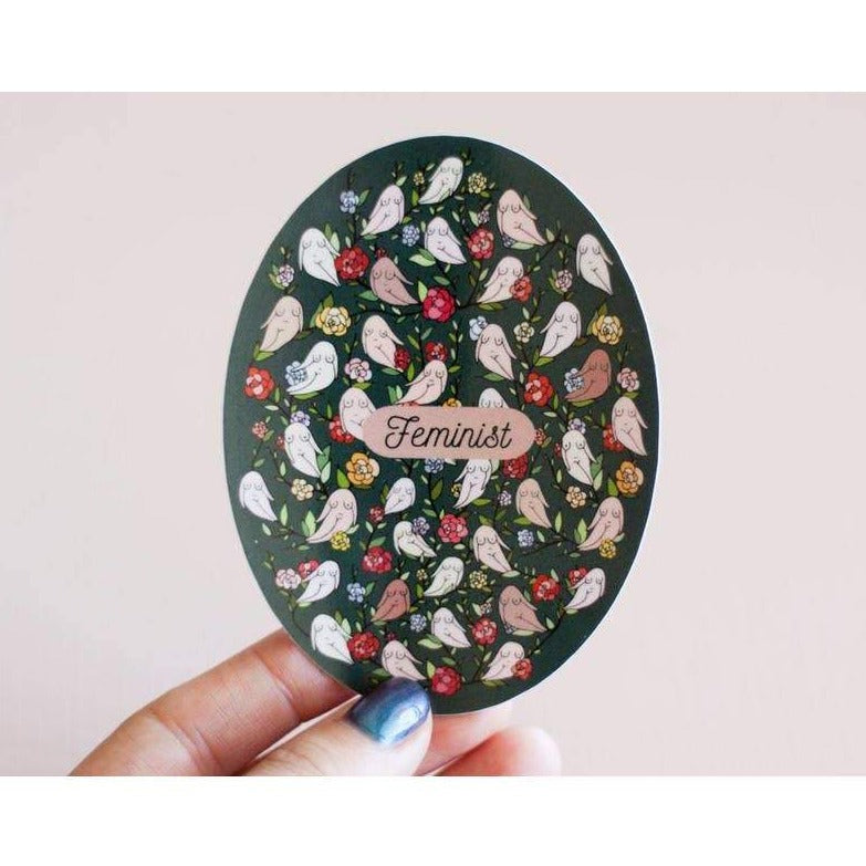 Feminist Floral Vinyl Sticker by Little Woman Goods - COMMON DEAR