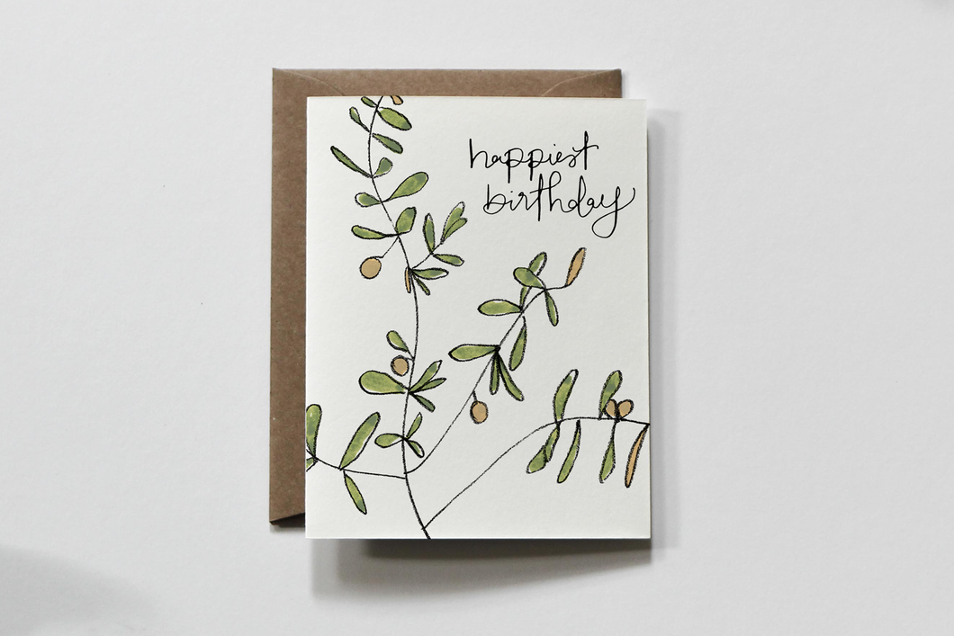 Happiest Birthday Greeting Card by Everglow Handmade - COMMON DEAR