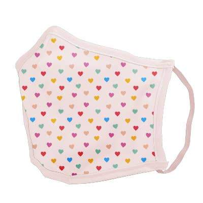 Rainbow Hearts Face Mask - Petite Small by Talking Out of Turn - COMMON DEAR
