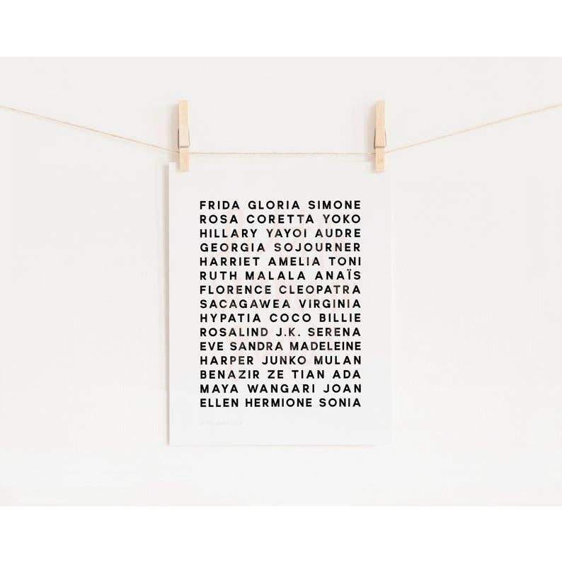 Feminist Heroes Art Print by Little Woman Goods - COMMON DEAR