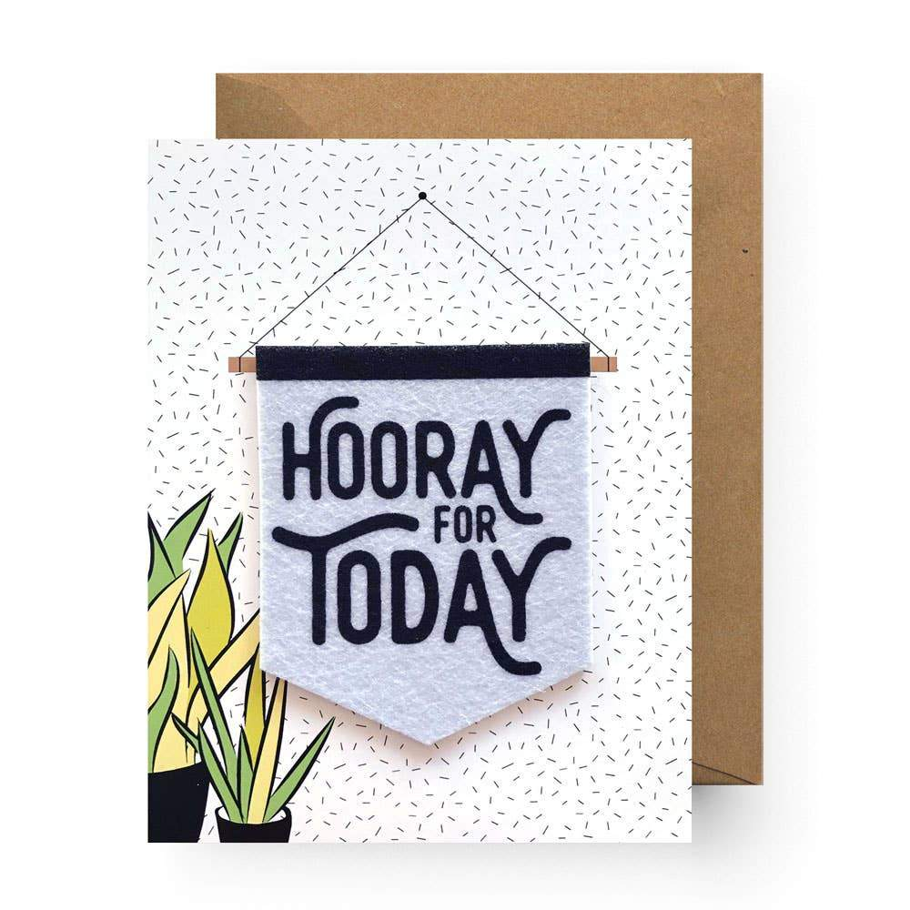 Hooray for Today Sticker Greeting Card - Common Dear
