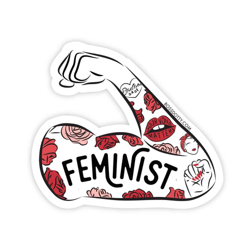 Feminist Tattoo Sleeve Sticker - Common Dear
