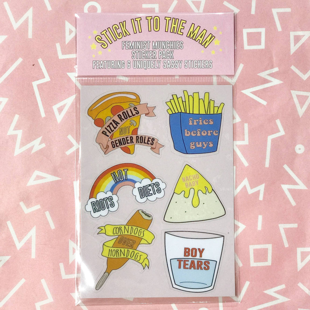 Feminist Munchies Sticker Pack by The F Word Gift Shop - COMMON DEAR
