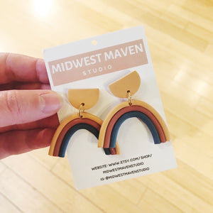 Primary Rainbow Dangle Earrings by Midwest Maven - COMMON DEAR