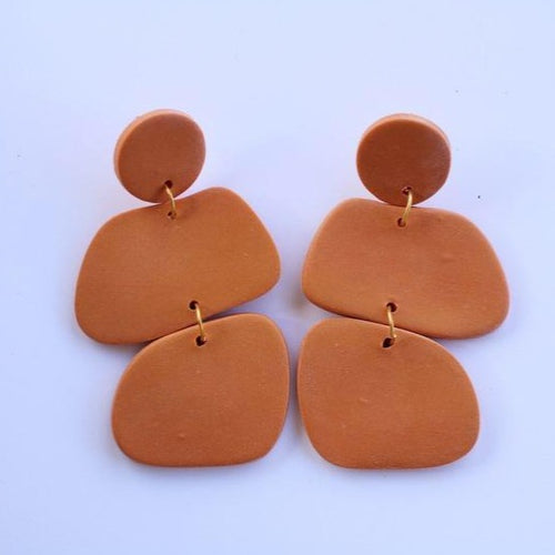 Pumpkin Rock Dangle Earrings - COMMON DEAR