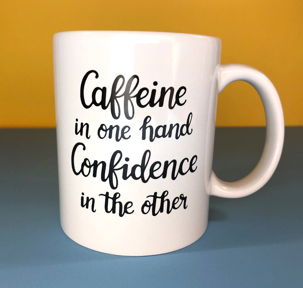 Caffeine Confidence Mug by Aditi Designs - COMMON DEAR