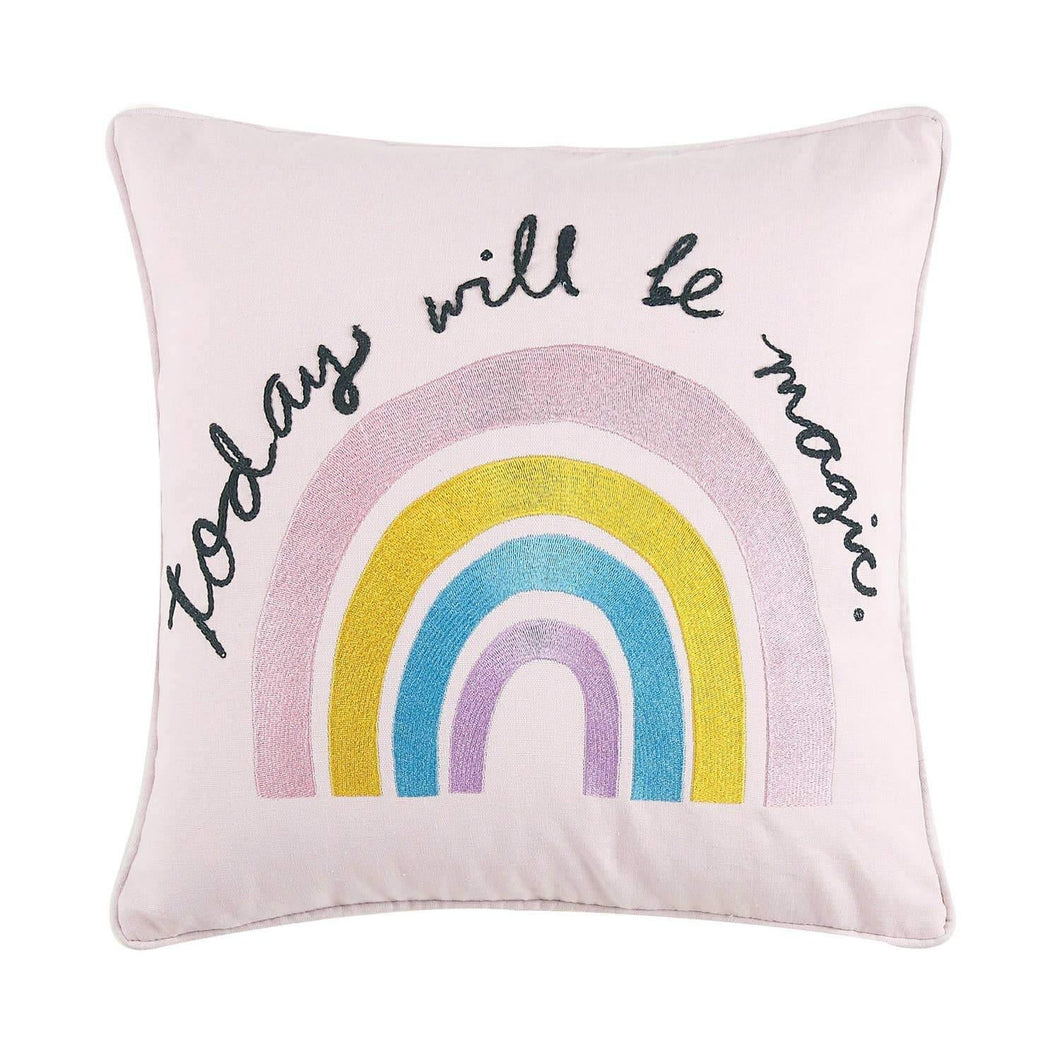 Today Will Be Magic Embroidered Pillow by Peking Handicraft - COMMON DEAR