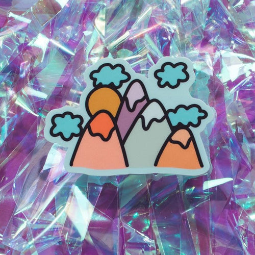 Mountains Sticker-Stickers-Feel Better Club-COMMON DEAR