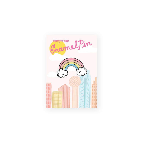Rainbow Enamel Pin by Talking Out of Turn - COMMON DEAR